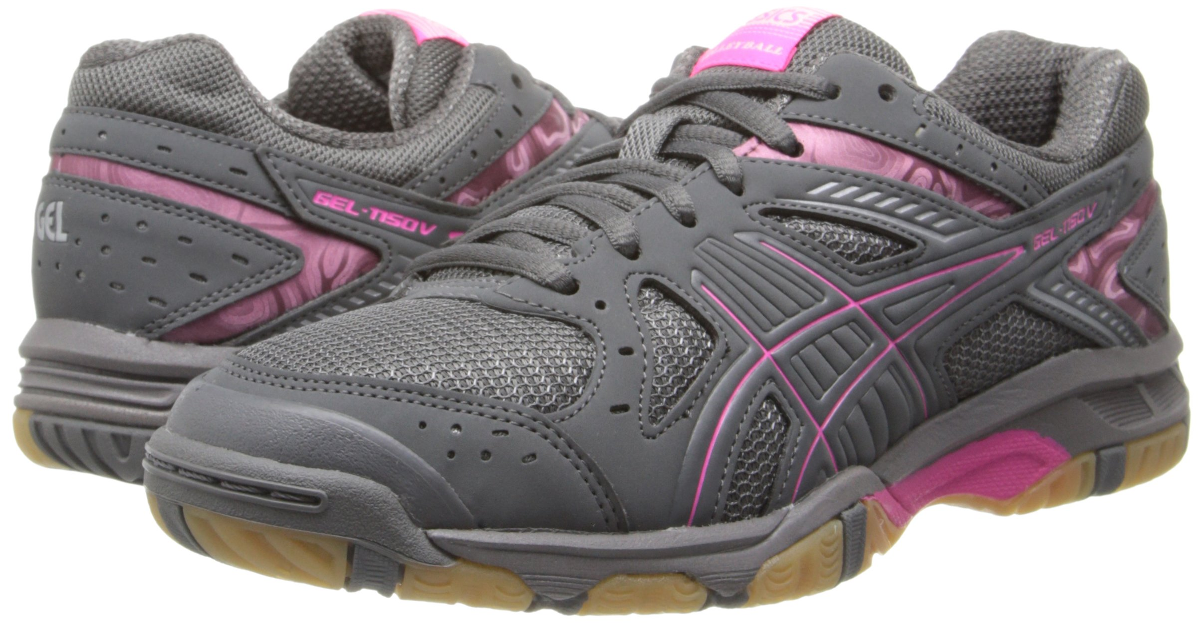 ASICS Women's Gel 1150V Volley Ball Shoe,Smoke/Knock Out Pink/Silver,8 M US by ASICS (Image #6)