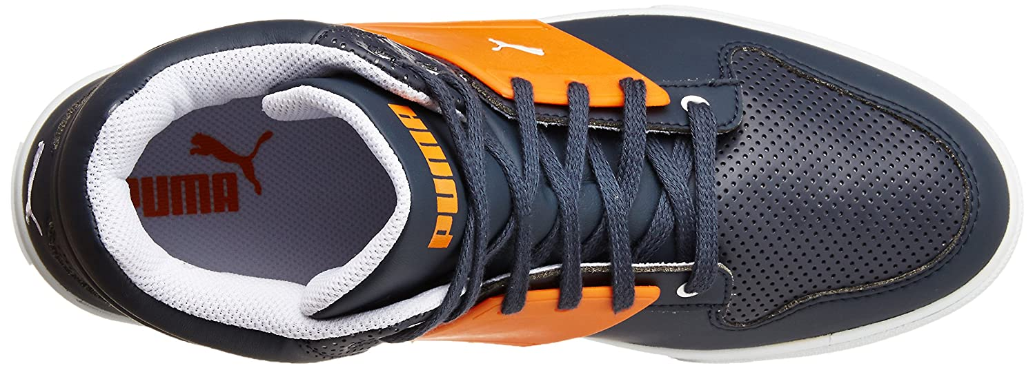 f9e79ca98390 Puma Unisex s El Ace 2 Mid PN II DP New Navy and Sun Orange Sneakers - 6  UK India (39 EU) (36136701)  Buy Online at Low Prices in India - Amazon.in