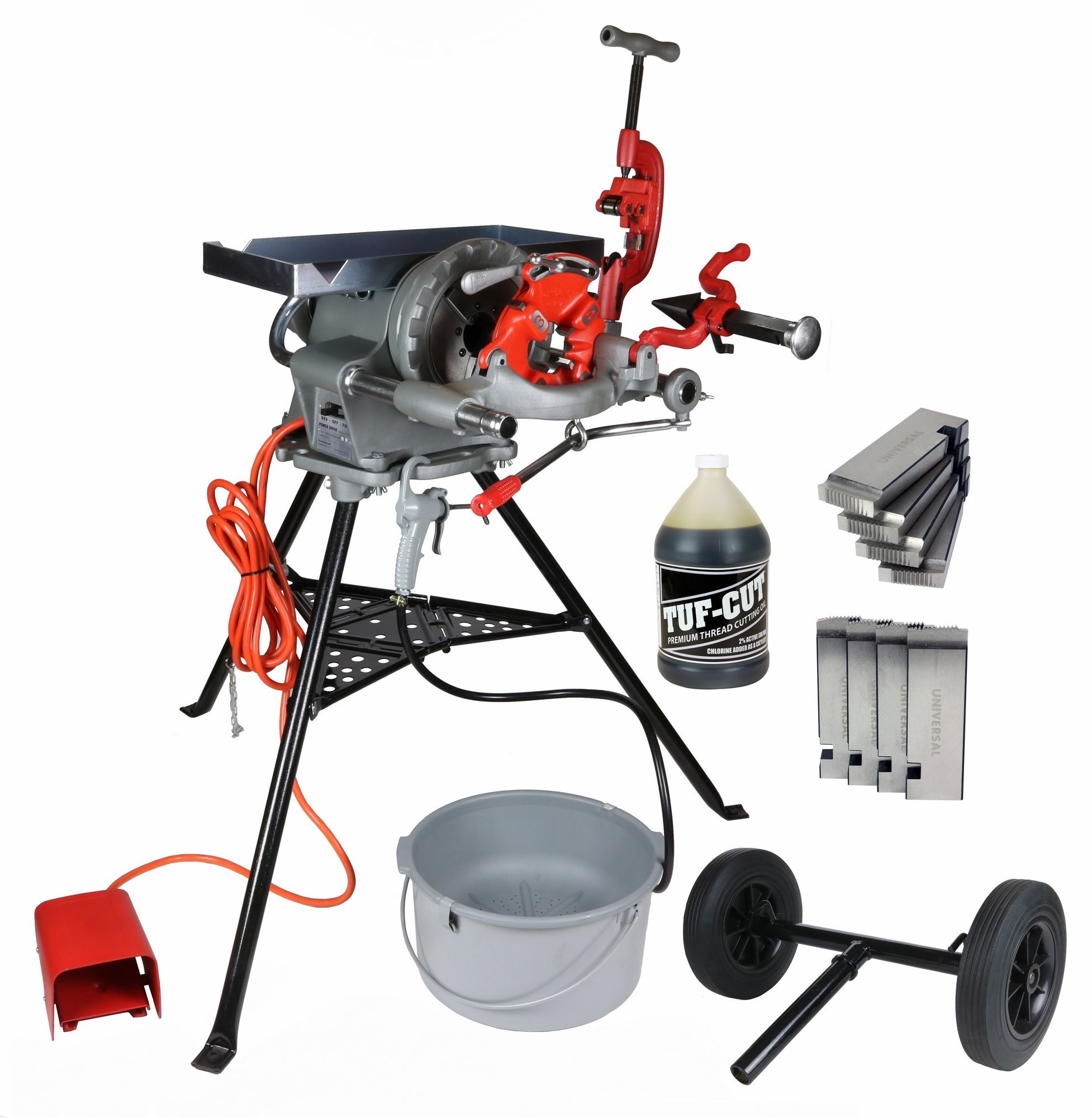 Toledo Pipe 300 15682 Complete Pipe Threading Machine, 38 RPM, RIDGID 811A fits RIDGID 300 T2 418 with Accessory Kit