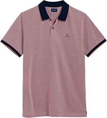 Gant Hombres Oxford Piqué Rugger Polo Camisa Rojo L: Amazon.es ...