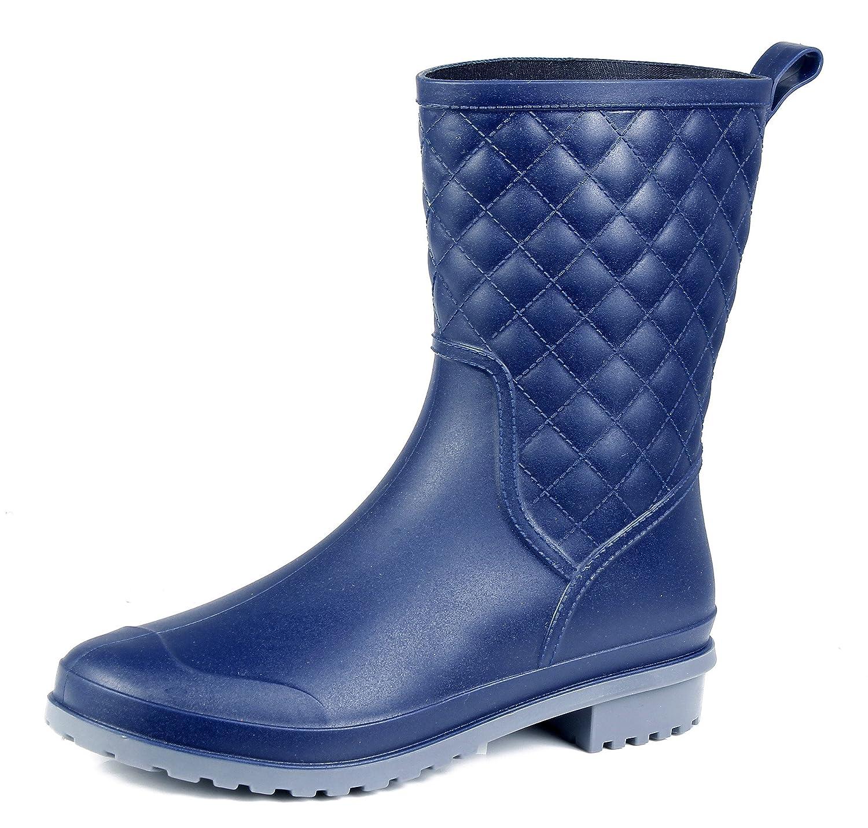 AgeeMi Shoes B07339X22G Femme Bottes Couleur Bleu Unie Carré Caoutchouc Bottes Imperméables Bleu 291b0ab - epictionpvp.space