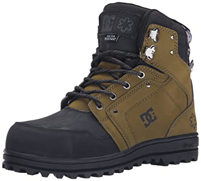 DC Men's SPT Water Resistant Snow Boot, Military/Black, ...