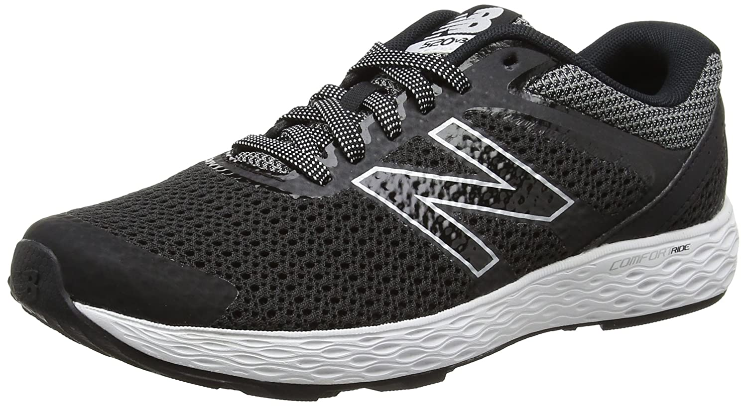 New Balance Women's 520v3 Running Shoe B01FSJBK92 12 B(M) US|Black/Gunmetal/White