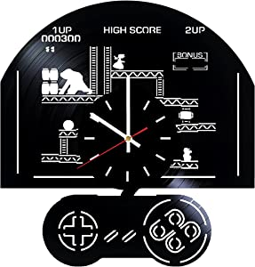Everyday Arts Donkey Kong Gameplay Design Vinyl Record Wall Clock - Get Unique Bedroom or Garage Wall Decor - Gift Ideas for Friends, Brother - Darth Vader Unique Modern Art