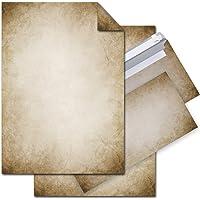 Set: 25feuilles de papier à lettre imprimées recto-verso