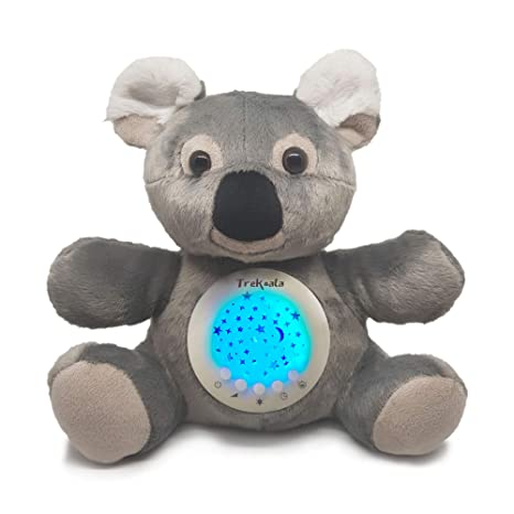 TreKoala – White Noises For Babies – Cry-Baby Sensor – USB Charge –  Carillon – Stars Night Light Projector – Gift For Baby – Night Light