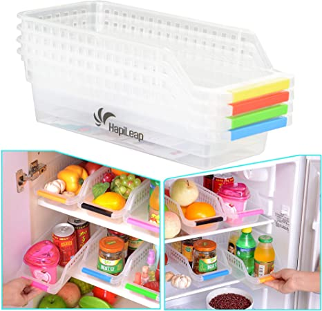 HapiLeap Frigorífico Durable de Almacenamiento de Escritorio Caja de Recolección de Cocina de Fruit Basket Soporte para Rack de Basket Container (4 Pack): Amazon.es: Hogar