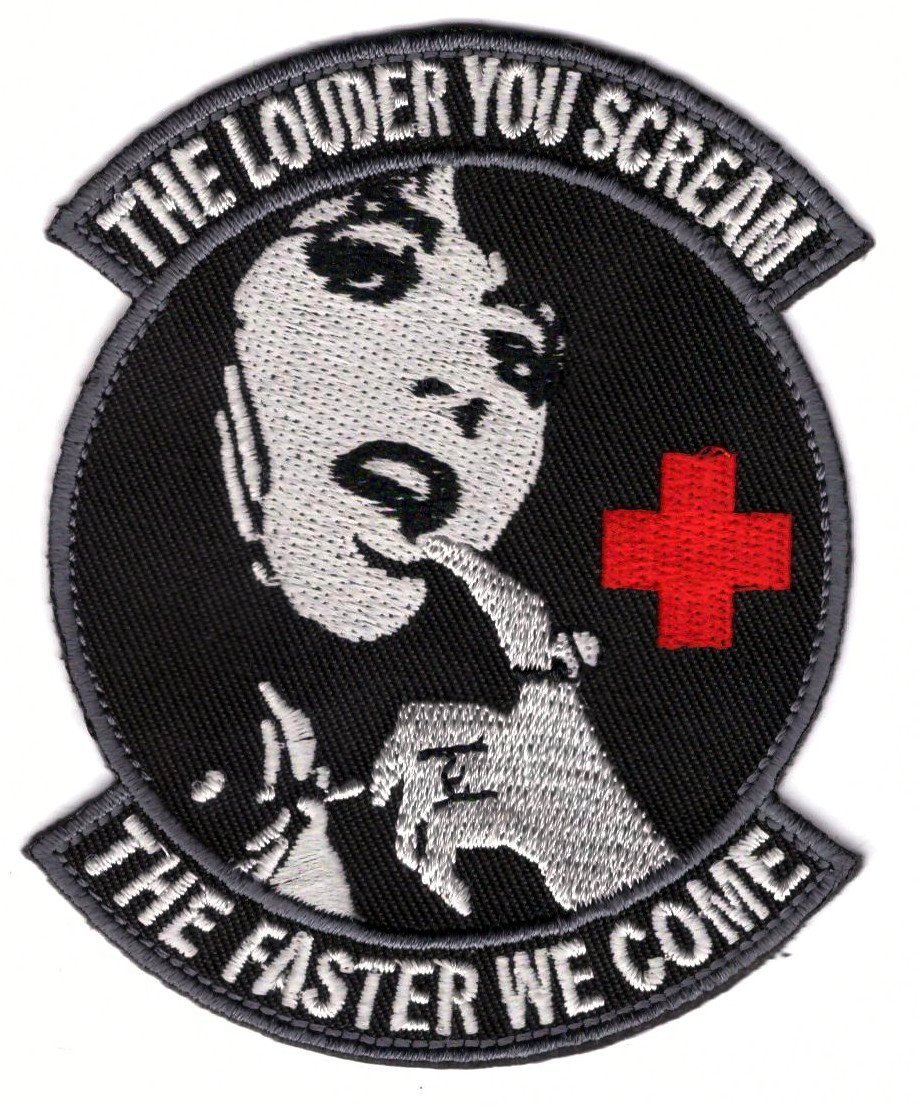 Titan One Europe Hook Fastener Louder You Scream Faster We Come Black Medic Morale Patch Klettband Aufn/äher