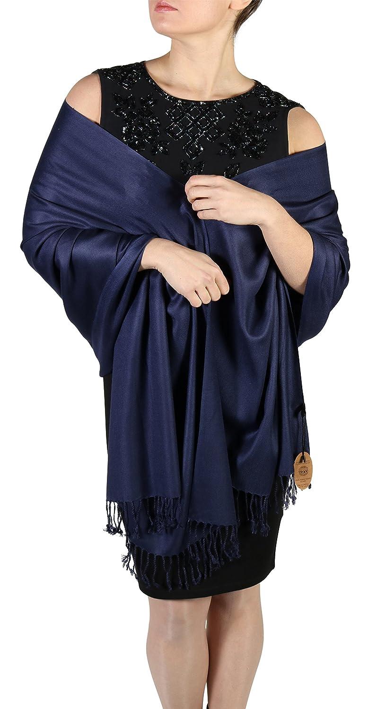 York Shawls Pashmina Schal Tuch Stola für Frauen - Quastenveredelung - Kostenloser Aufhänger (Über 20 Farben) Handgefertigt
