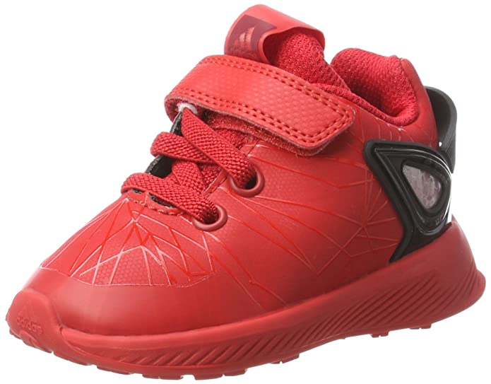 bfcd9c16b351 adidas Unisex Babies  Spider-Man RapidaRun Low-Top Sneakers  Amazon.co.uk   Shoes   Bags