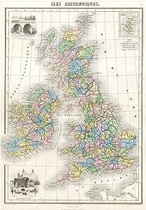 The Art Stop MAP 1878 MIGEON British Isles England Ireland Scotland Print F12X2043