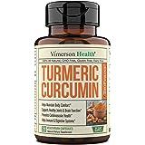Turmeric Curcumin with BioPerine Black Pepper, 95% Curcuminoids. Inflammation Balancing Properties, Occasional Joint Discomfo