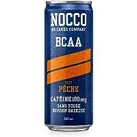 NOCCO BCAA Perzik 24 x 330 ml BCAA koolzuurhoudende drank zonder suiker, laag caloriegehalte van de firma No Carbs…