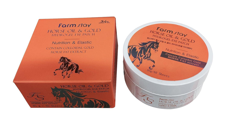 Farm Stay Pferd Öl & Gold Hydrogel Augen Patches Pads Masken Anti-Aging 60 Blatt
