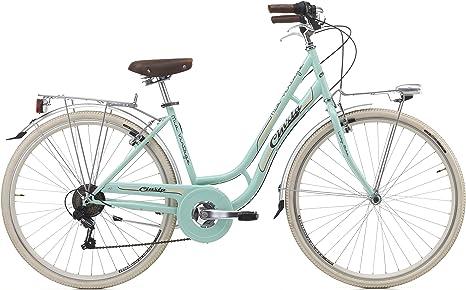 28 Pulgadas Cinzia MIA Mujer City Bicicleta de 6 Marchas, Color ...