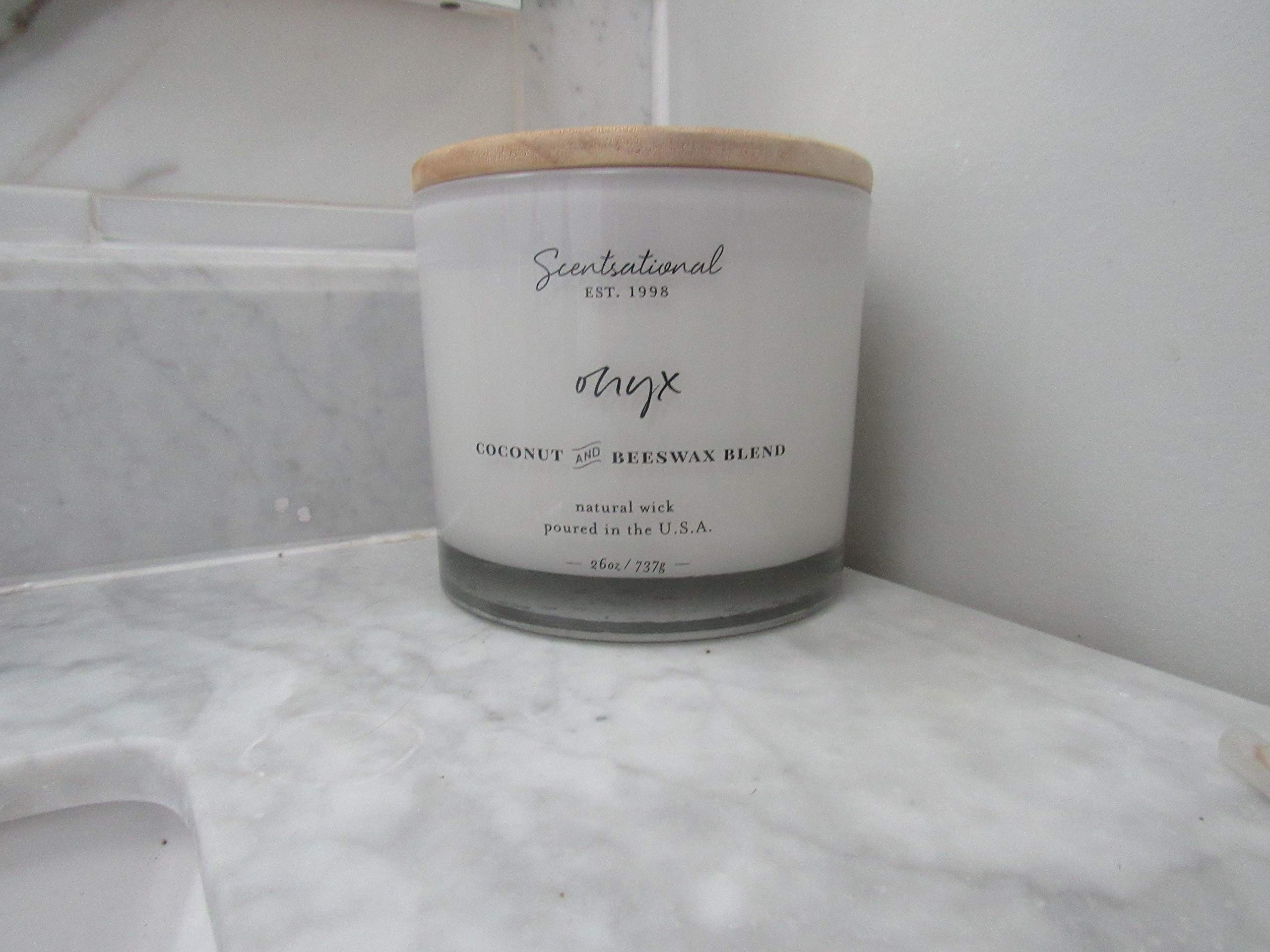 Candle Coconut and Beeswax Blend Sensational Natural 3 Wick 26 oz