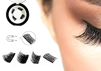 0c9750d3128 Dual Magnetic Half Size False Eyelashes Set (4 pieces) - Handmade 3D Fake  Magnetic