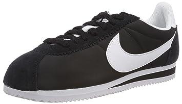 456b7a5024 Amazon.com  Nike Women s Classic Cortez Nylon Black White  Sports ...