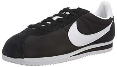 hot sale online bd459 2acaa Nike 807471-010  Classic Cortez Womens Casual Leather Black White Sneakers  (Balck