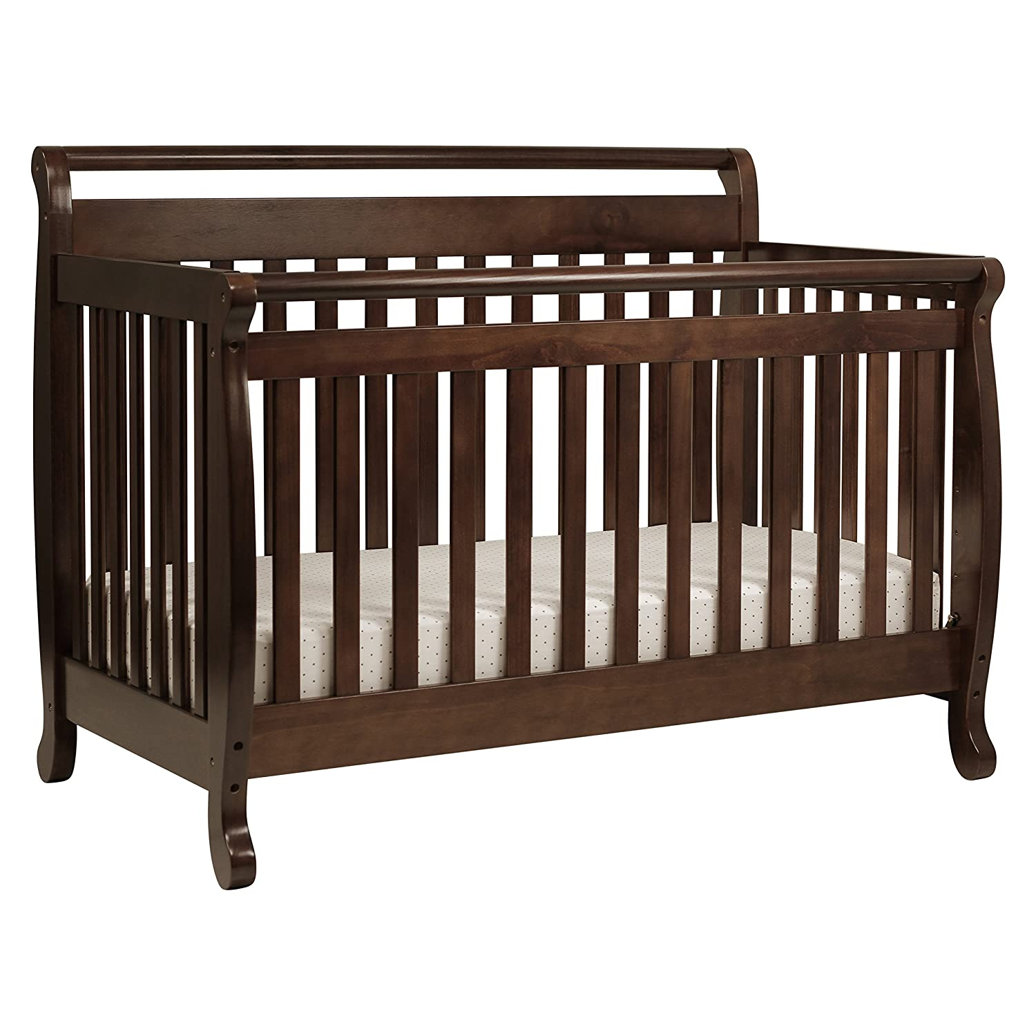 Amazon.com : DaVinci Emily 4-in-1 Convertible Crib in Espresso Finish :  Toddler Beds : Baby
