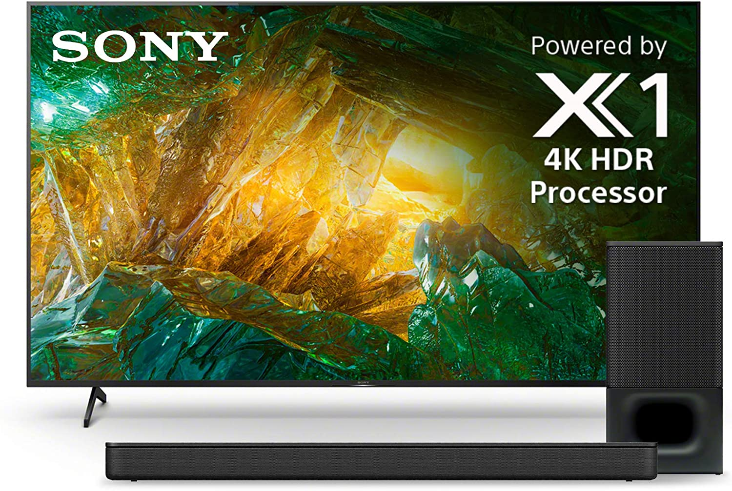 Sony X800H 85 Inch TV: 4K Ultra HD Smart LED TV with HDR and Alexa Compatibility - 2020 Model & Soundbar with Wireless Subwoofer