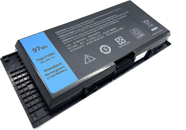 Yafda FV993 11.1V 97Wh High Capacity New Laptop Battery for Dell Precision M4600 M4800 M6600 M6800 M6700 M4700 FJJ4W PG6RC V7M28 9 Cells