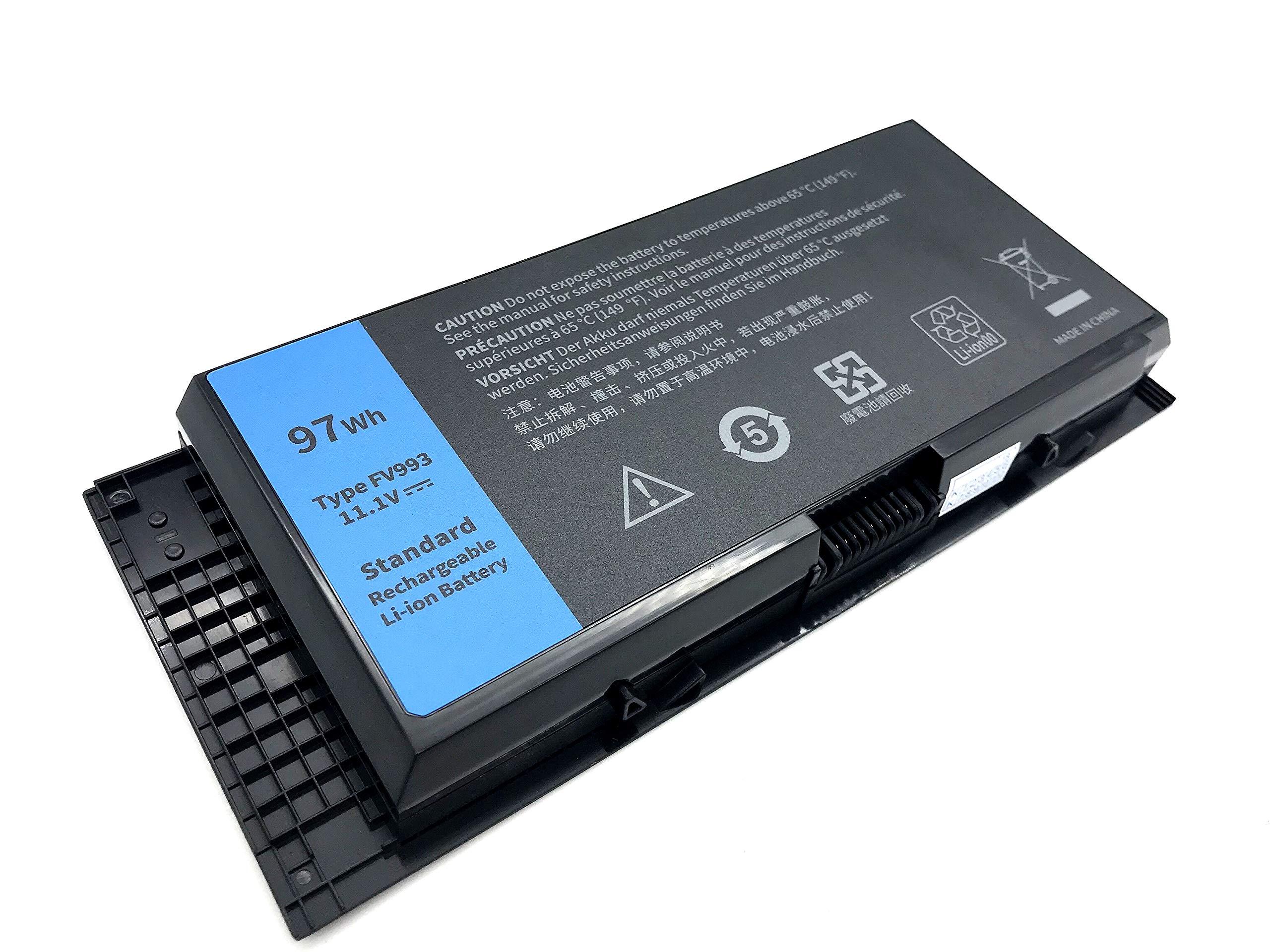 Bateria FV993 11.1V 97Wh para Dell Precision M4600 M4800 M6600 M6800 M6700 M4700 FJJ4W PG6RC V7M28 9 Celdas