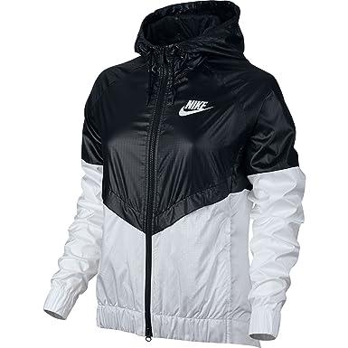 Nike Femme Coupe-vent Noir Et Blanc