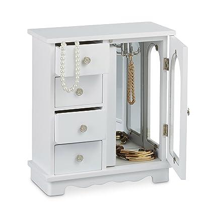 c1c29d7c1a Amazon.com  Relaxdays Jewelry Box w  Door