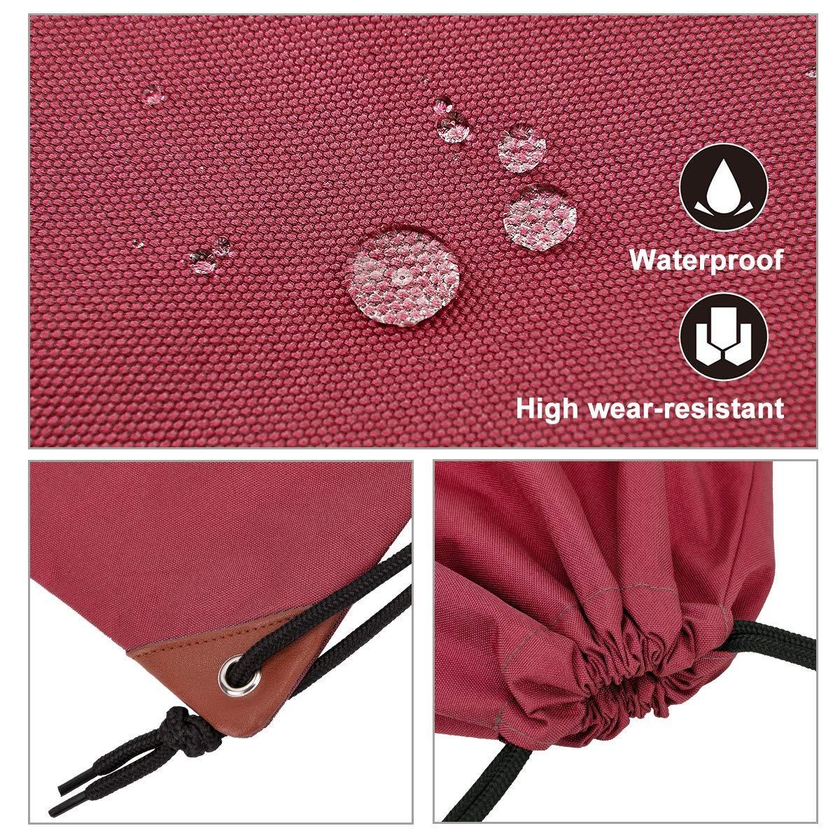 LIVACASA Mochila de Cuerdas Mujer Hombre Bolsas de Cuerdas Bolso Mujer Casual A Prueba de Agua Impermeable Bolsillo Exterior Extra Ajustable Correas de Hombros