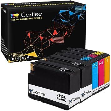 Amazon.com: Cartlee 711XL 711 - Juego de 5 cartuchos de ...