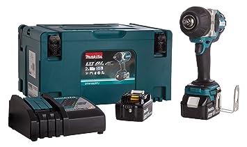 MAKITA DTW1002RTJ Llave de Impacto de batería de 18V Litio-Ion con 1.000 NM de par de apriete, con Motor BL sin escobillas, Azul: Amazon.es: Bricolaje y ...