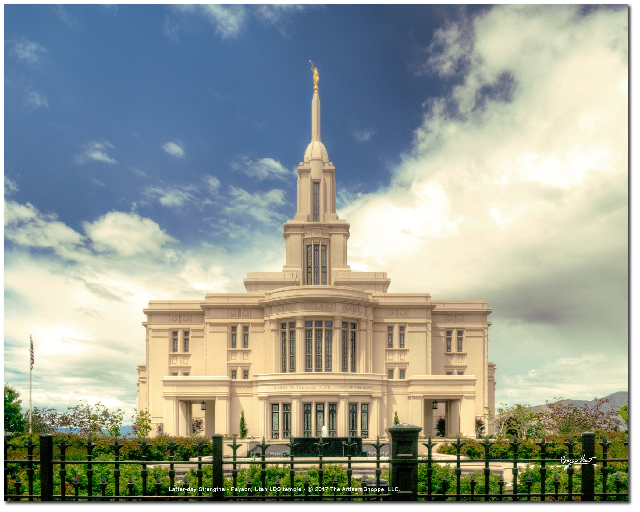 Latter-day Strengths PAYSON UTAH BEAUTIFUL LDS temple - 10''x8'' print on Fujicolor Crystal Archive photo paper - Vibrant, Full-Color, High Resolution photograph (BEAUTIFUL 10x8 PRINT)