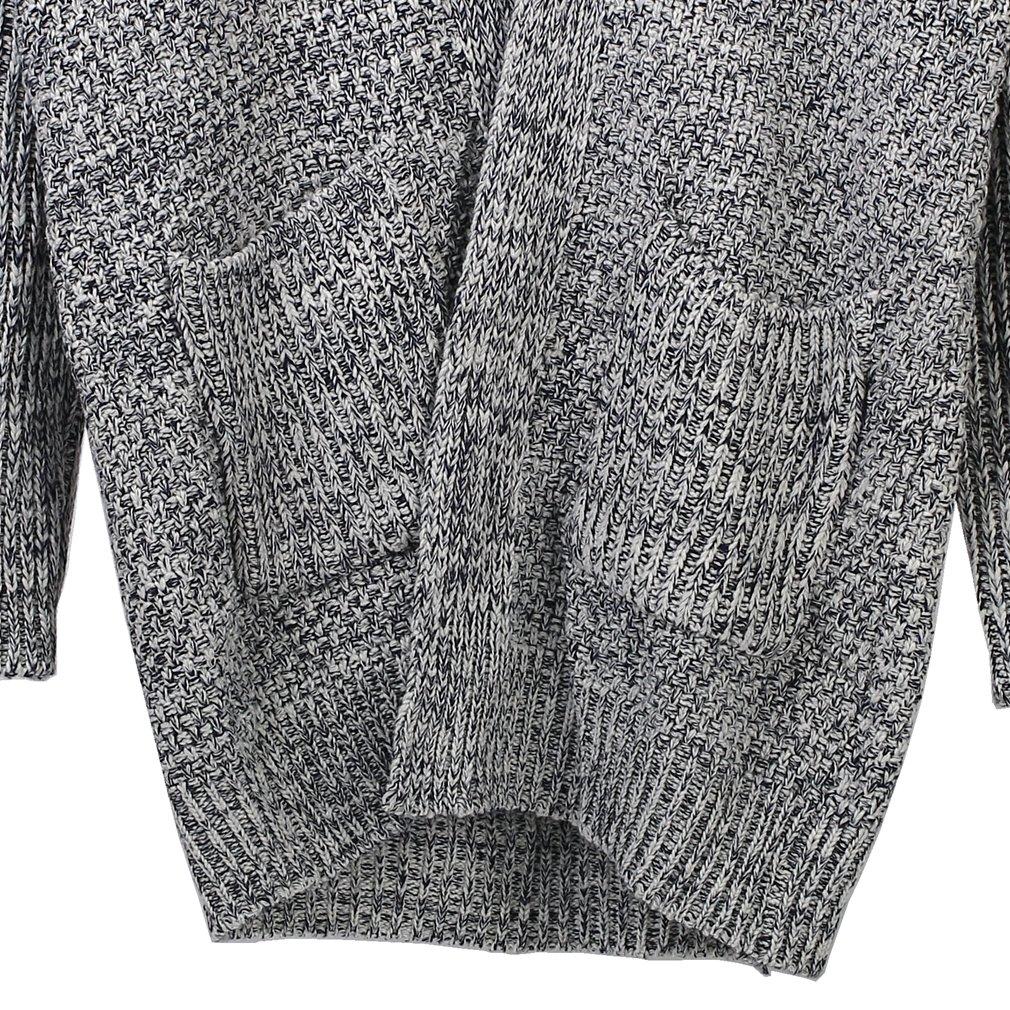 4861b83c1 SAYM Women s No Loose Cardigan Sweater Coat Bold Lines Knit Grey at Amazon  Women s Clothing store