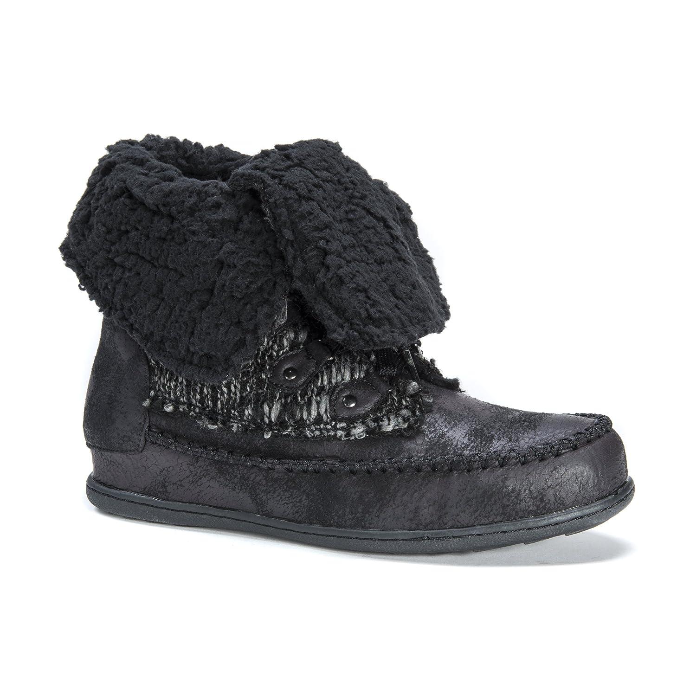 MUK LUKS Women's Lilly Lace Up Boot B00VLY0V5I 10 B(M) US|Black