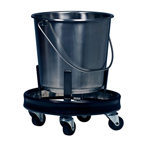 Graham-Field 3267 Stainless Steel Kick Bucket and Stand Set, 11-5 8 D x 9-1 4 H, 12-1 2 quart Capacity
