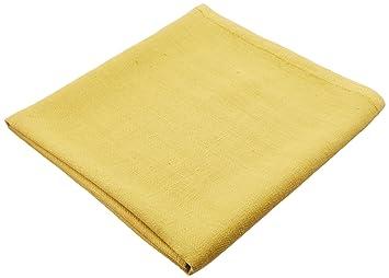 Toalla de baño Lara de lino, con vainica. Color amarillo y citrina. LinenMe 100 x 140 cm.: Amazon.es: Hogar
