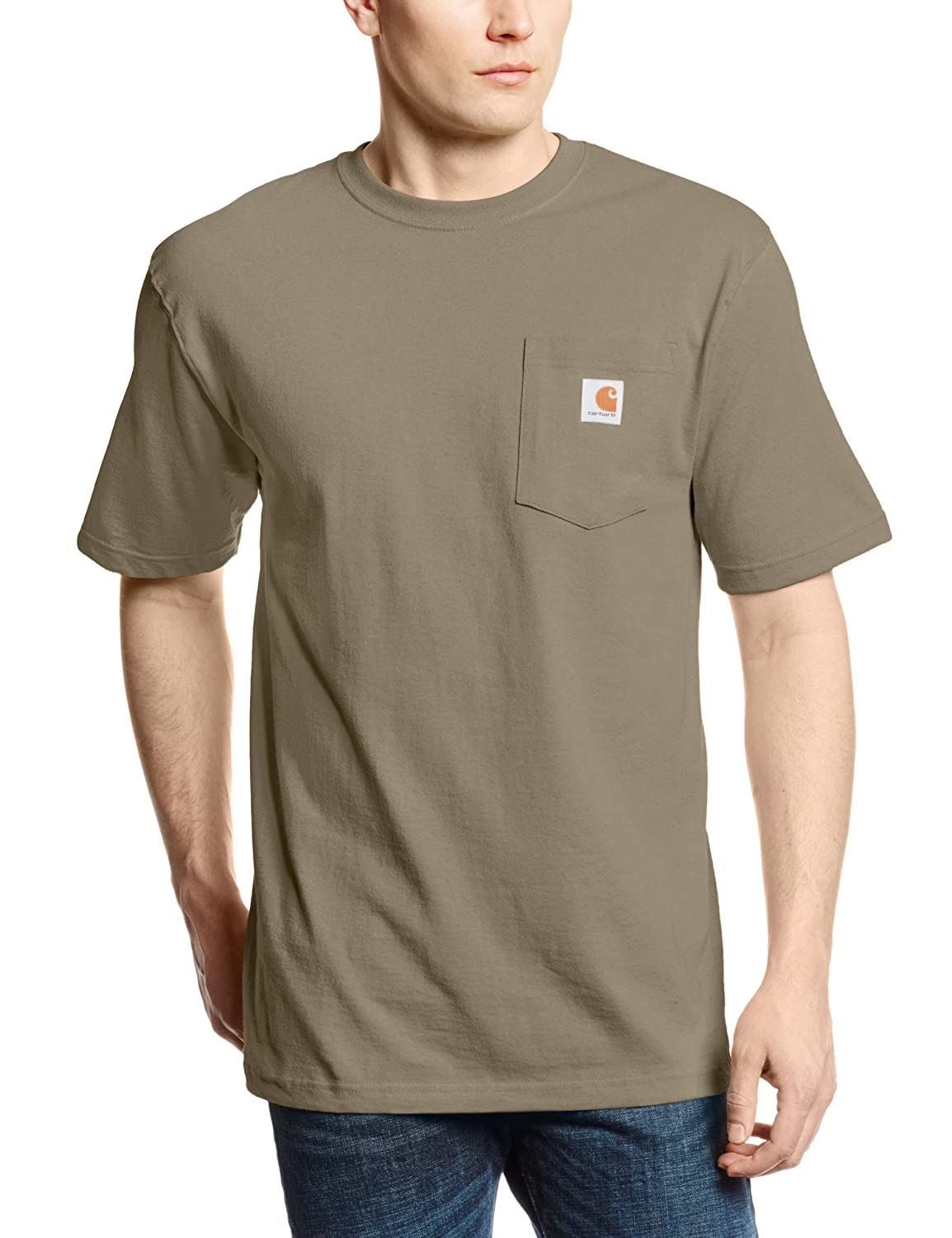 Carhartt men 39 s workwear pocket short sleeve t shirt for Tahari t shirt mens