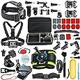 SmilePowo Outdoor Sports Camera Accessories for GoPro Hero 5 / Session 5/4/3/2/1,AKASO EK7000,EK5000,SJCAM,DBPOWER,xiaomi YI,Carrying Case,Camera Bundle (51-in-1)