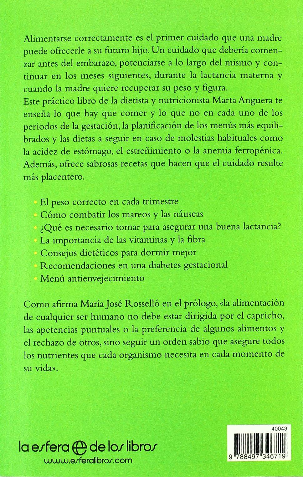 Dietas para embarazadas: Amazon.es: Marta Anguera: Libros