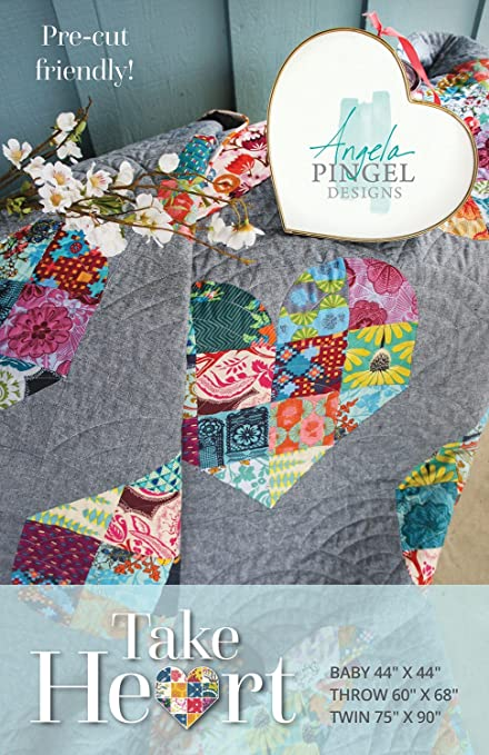 Amazon Take Heart Quilt Pattern By Angela Pingel Designs 60 Unique Heart Quilt Pattern