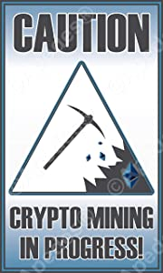 Crypto Mining Ethereum Computer Tablet Decal Sticker 3x5 inches