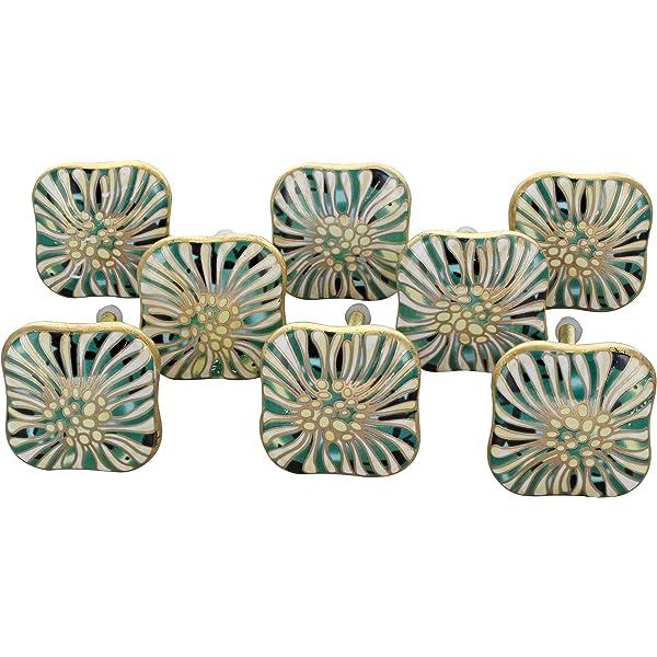 Shabby Chic Vintage Milano.G Decor Set Of 8 Mughal Brass Metal Door Knob Vintage Shabby Chic