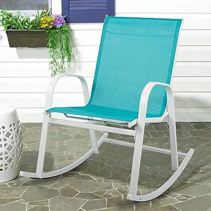 Strange Amazon Com Overstock Steel Textilene Fabric Patio Rocking Unemploymentrelief Wooden Chair Designs For Living Room Unemploymentrelieforg