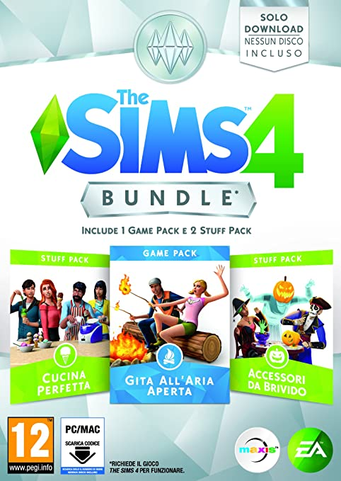 3 opinioni per The Sims 4 Game & Stuff Pack 1: Gita all'Aria Aperta, Cucina Perfetta, Accessori
