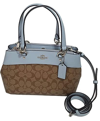 20dbf94db459 ... get coach mini brooke carryall satchel signature khaki crossbody bag  purse f26139 new with tags 73eae ...