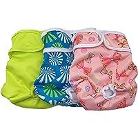 Cilkus Pañales lavables para perro hembra para perros pequeños (paquete de 3) de pañales duraderos para perritos…