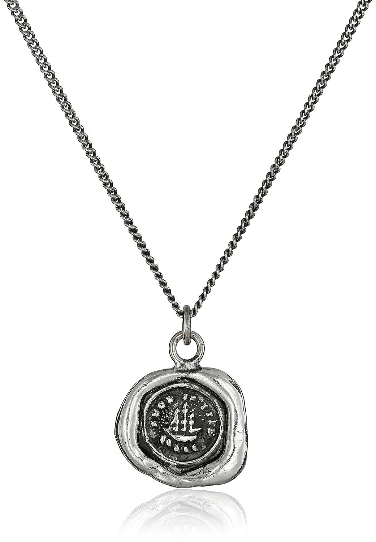 Pyrrhatalisman Sterling Silver Ship Necklace, 18 18 N1927-18