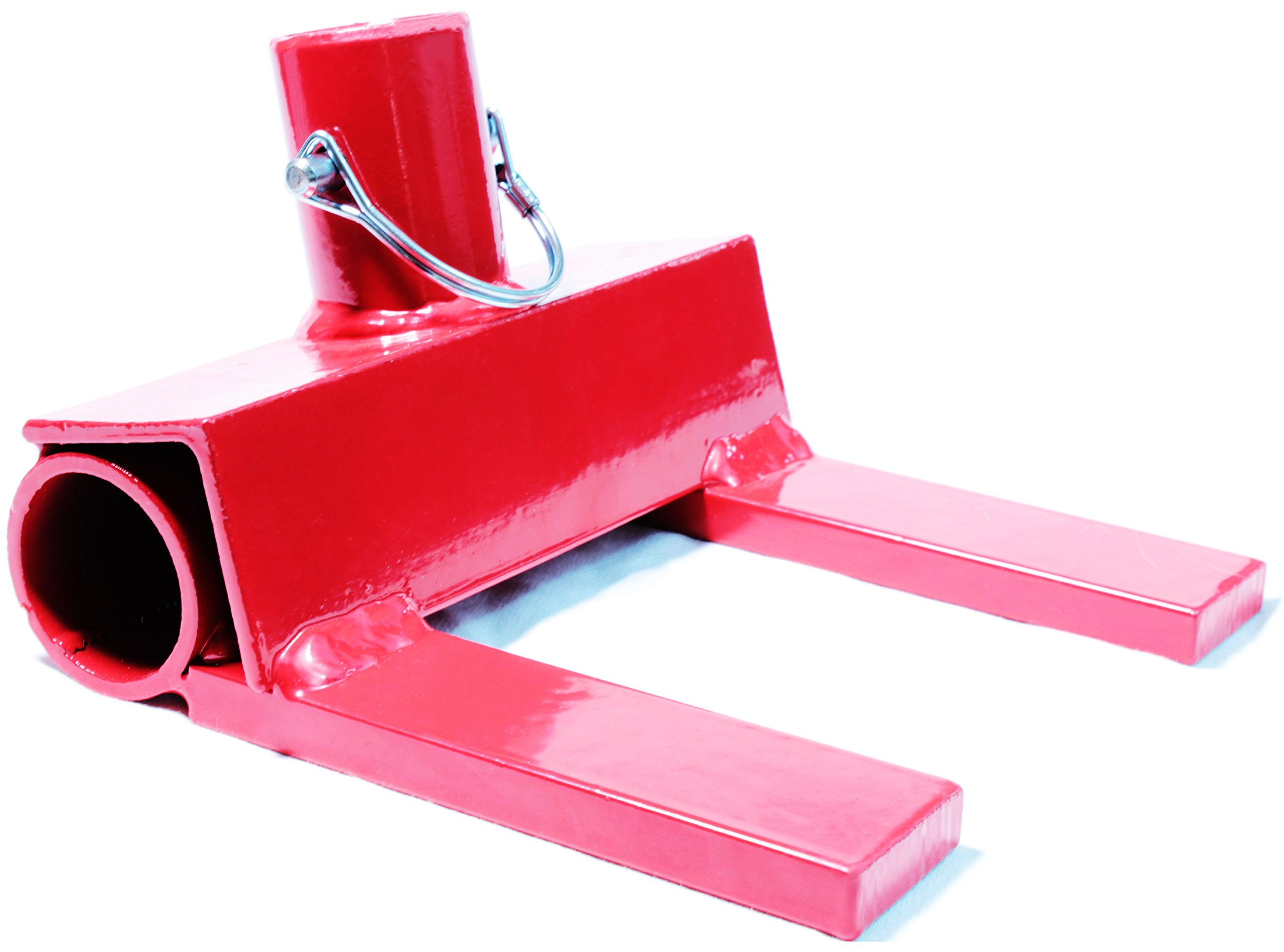 Pallet Buster | Deck Wrecker - Best Wrecking Bar for Breaking Pallets - Steel Head - 2 Secure Locking Pins - Red - Molomax