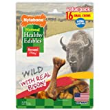 Nylabone Healthy Edibles Wild Flavors Dog Chew Treat Bones for Small Dogs up to 25 Pounds